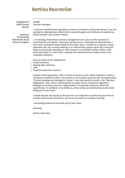 Preview of an attractive cover letter template designed to improve on the infamous Europass template