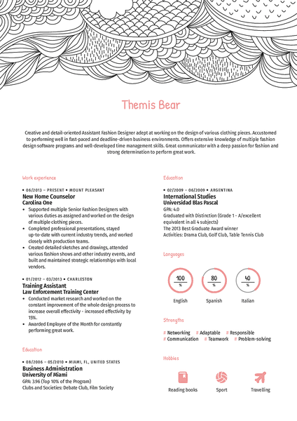 Doodle resume template made by Kickresume resume builder