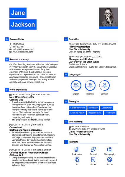 Newsweek resume template made by Kickresume resume builder