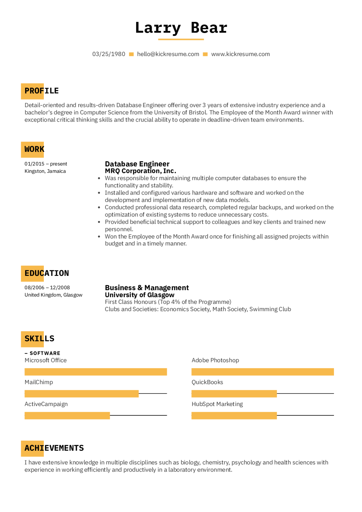 kickresume my cv square