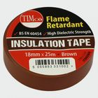 TIMco ITBROWN PVC Insulation Tape Brown 25m X 18mm Pack Of 10