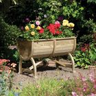 Marberry Wooden Planed Barrel Planter
