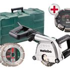 Metabo MFE40 110v 1900W 40mm Wall Chaser C/w TRIPLE BLADE