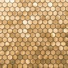Self-adhesive Mosaic Aluminium Tile Hexagon Gold Kitchen Feature Decorative Easy Fit, Peel And Stick, No Need To Grout, UK Stock