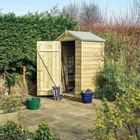 Rowlinson 4 x 3ft Shiplap Shed - Natural