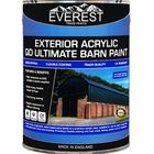 Everest Trade Paints - Acrylic Exterior Ultimate Barn Paint - Available in 20 and 5 Litre, 20 Litre / Black / Semi-Gloss