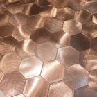 Self-adhesive Mosaic Aluminium Tile Large Hexagon Bronze Kitchen Feature Decorative Easy Fit, Peel And Stick, No Need To Grout, UK Stock