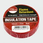 TIMco ITRED PVC Insulation Tape Red 25m X 18mm Pack Of 10