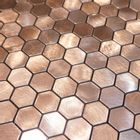 Self-adhesive Mosaic Aluminium Tile Hexagon Bronze Kitchen Feature Decorative Easy Fit, Peel And Stick, No Need To Grout, UK Stock