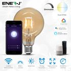 Smart WiFi Vintage G95 LED Globe Bulb Amber Glass Dimmable & CCT Changing, 8.5W (PACK of 3 UNITS)