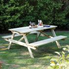 Rowlinson Pressure Treated Wood Picnic Bench  (Seater Choices Available)