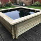 44mm Tanalised Log Timber Garden Pond Kits with Pond Liner (Size 1.8x1.8 to 1.8x3.0 in various depths)