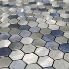 Self-Adhesive Mosaic Aluminium Tile Hexagon Blue Kitchen Feature Decorative Easy Fit, Peel and Stick, No Need to Grout, UK Stock