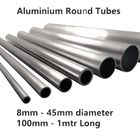 Aluminium Pipe Hose Round Tube 8mm-45mm Dia & 100mm-3m long Grades 6082T6 & 6063T6 (Many Sizes and Lengths) **PACK DISCOUNT**