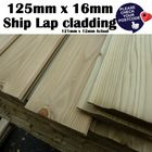 A Grade 125mm x 16mm Redwood Tanalised Shiplap Timber Shed T&G Cladding 75 Boards 4.2m