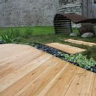 Siberian Larch Timber Decking Smooth and Reeded Profile 27x144mm - 4m Lengths