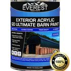 Everest Trade Paints - Acrylic Exterior Ultimate Barn Paint - Available in 20 and 5 Litre, 200 Litre / White / Semi-Gloss
