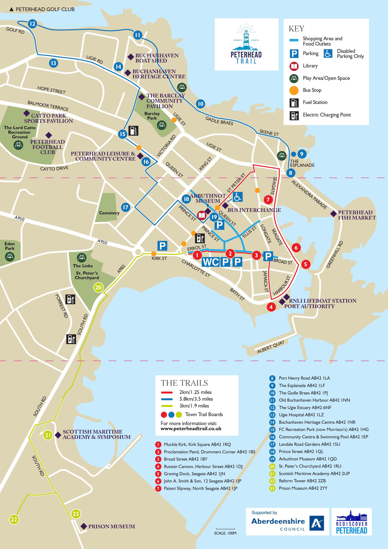 The Peterhead Trail Map