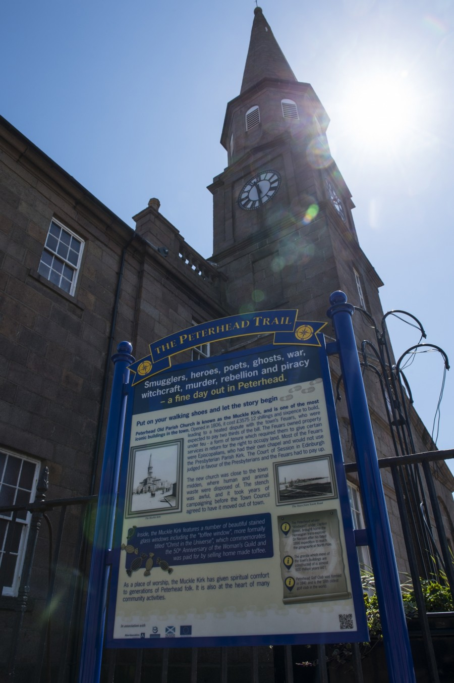 The Muckle Kirk - starting point of the Peterhead Trail