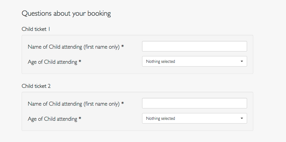 screenshot of creating a checkout survey