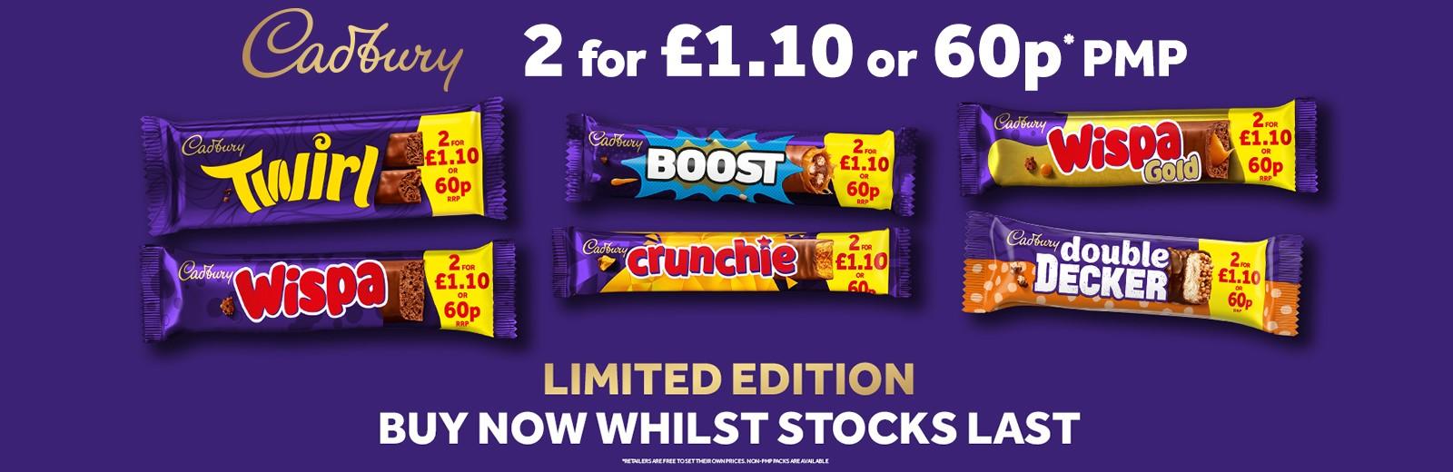Cadbury 2 for 110 1600 x 520