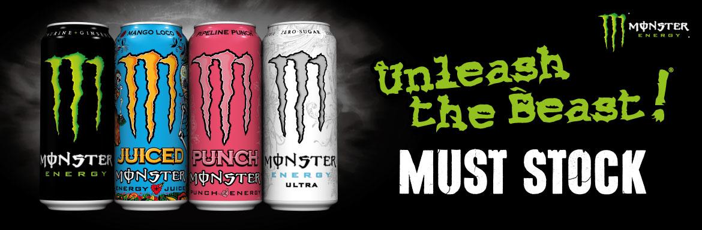 Monster Energy Must Stock - Unleash The Beast