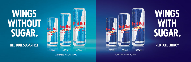 Red Bull Sugar Free and Original