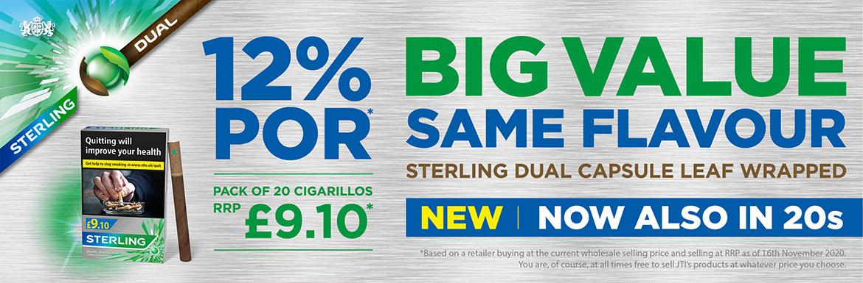 Sterling Dual Capsule Leaf Wrapped 12% POR