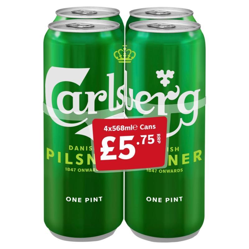 Carlsberg Lager  PM 4 for £5.75
