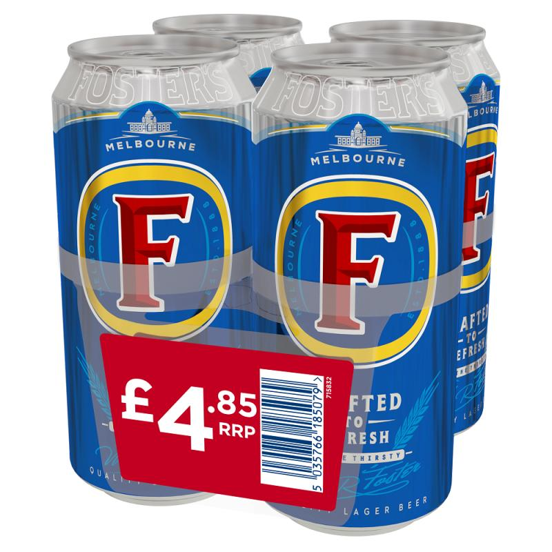 Fosters Lager  PM 4 for £4.85