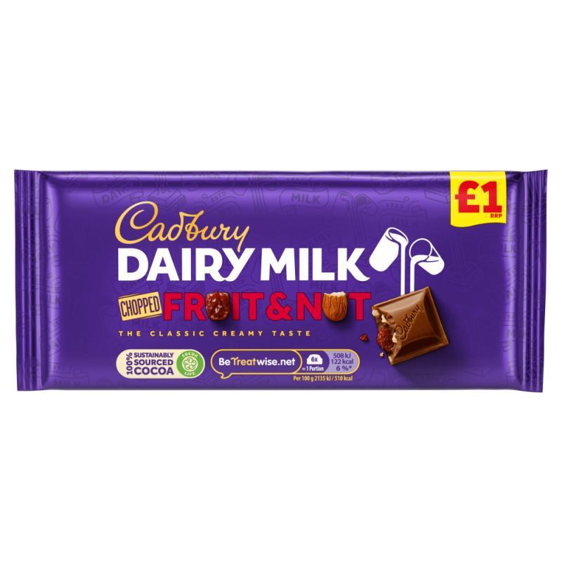 Cadbury Dairy Milk Fruit & Nut    PM  £1