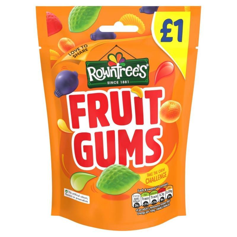 Rowntrees Fruit Gums Bag    PM  £1