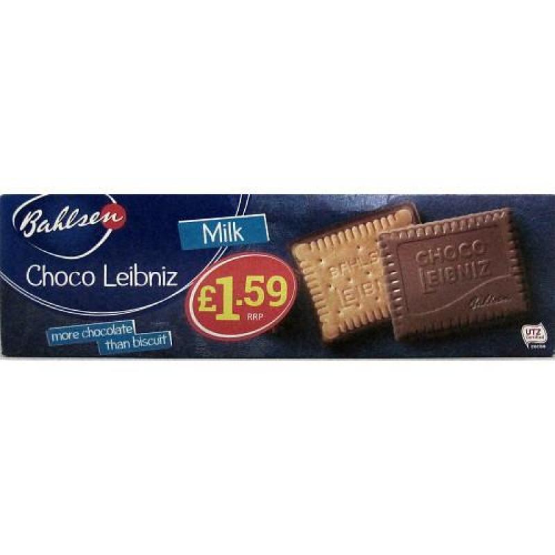 Bahlsen Choco Leibniz Milk    PM  £1.59