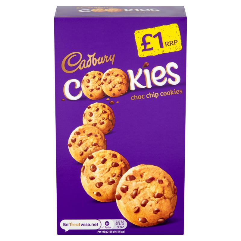 Cadbury Cookies Choc Chip    PM  £1