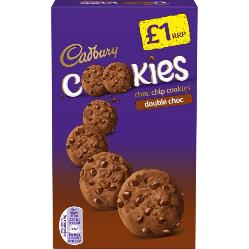 Cadbury Cookies Double Choc Chip    PM  £1