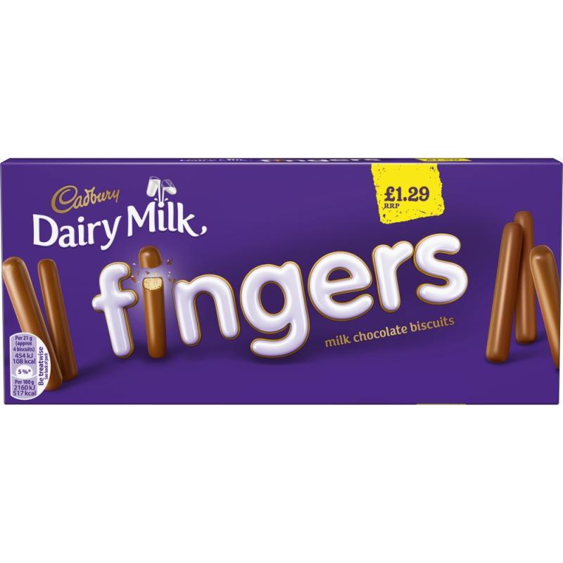 Cadbury Milk Chocolate Fingers    PM  £1.29