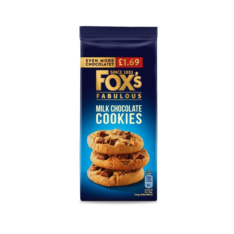 Foxs Chunkie Milk Chocolate Cookies  PM £1.69