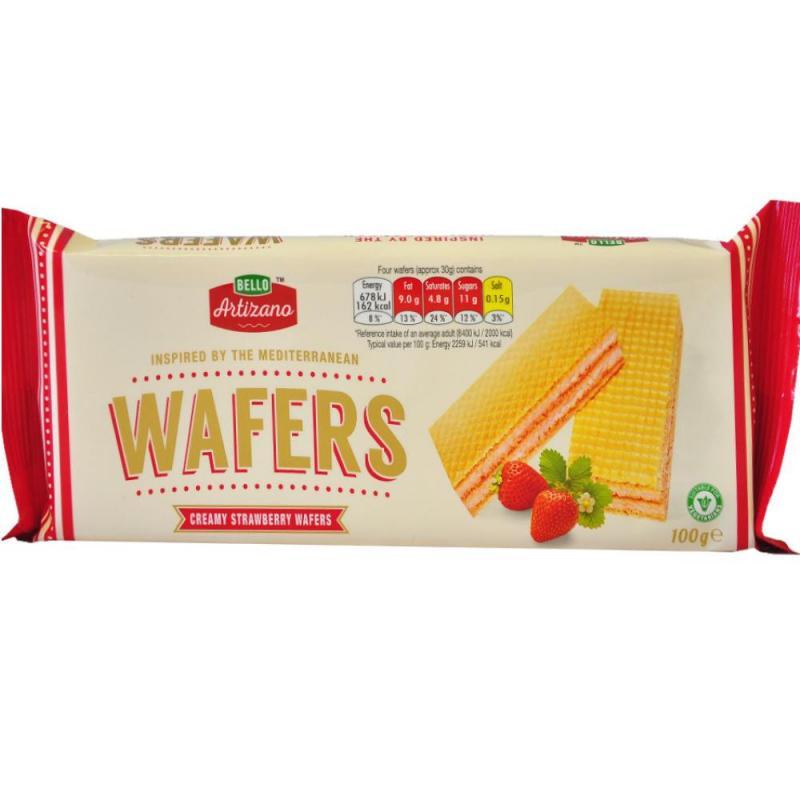 Bello Artizano Strawberry Cream Wafers