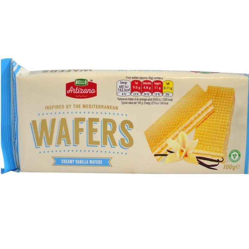 Bello Artizano Vanilla Cream Wafers