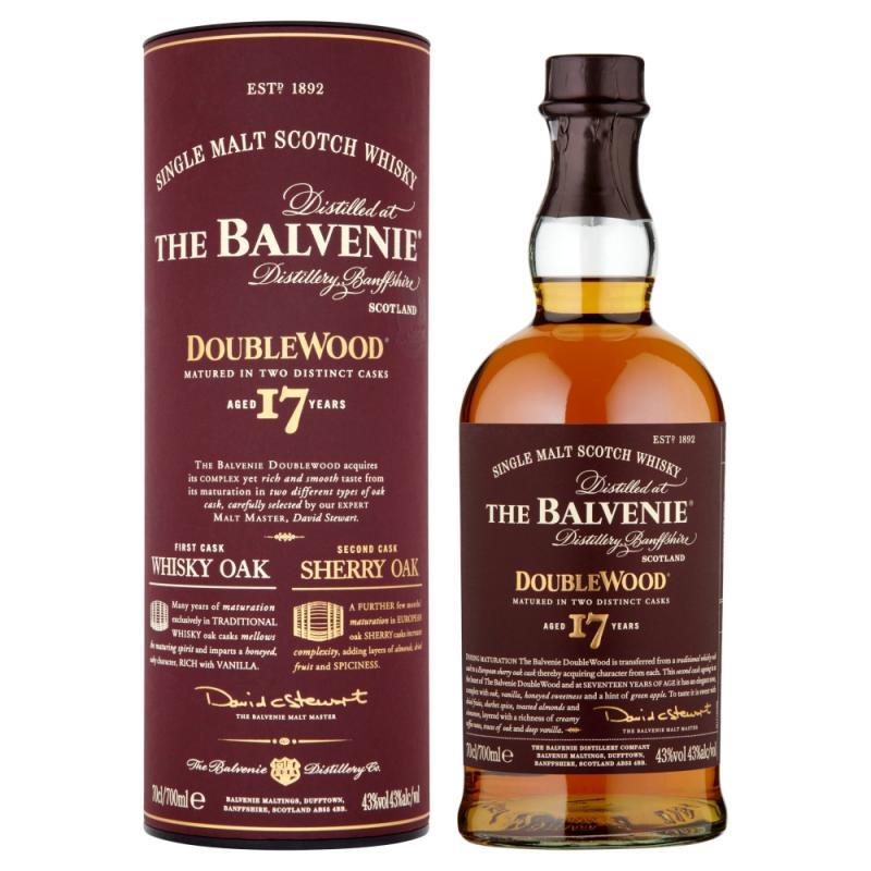 Balvenie 17 Year Old Doubelwood Single Malt Scotch Whisky 70