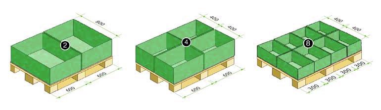 dimensiones de un palet europeo 1200 x 800 mm agrupadas cajas de plastico