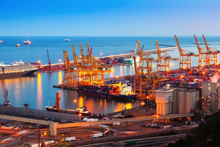 Instalación eléctrica puerto marítimo