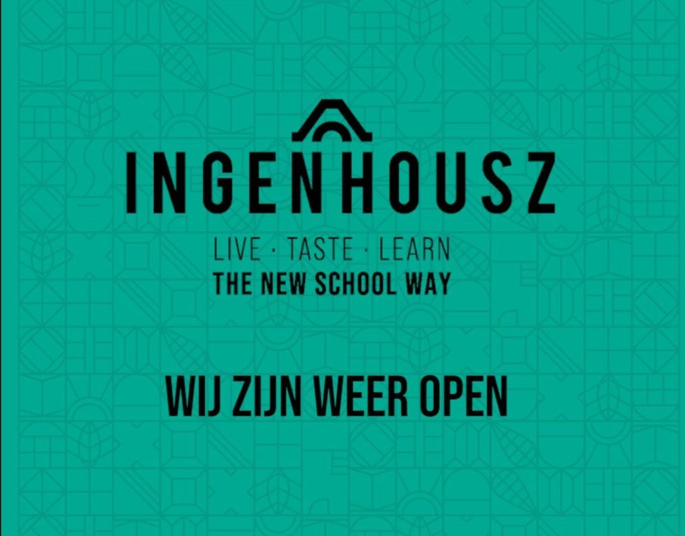 Ingenhousz Breda wij zijn weer open We are open again
