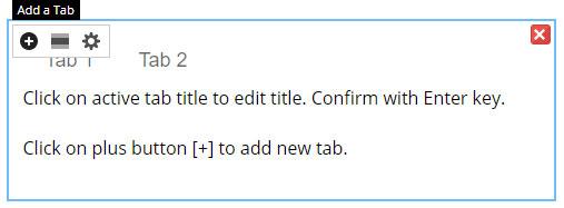 tabs element website builder