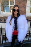 White Cropped Mongolian Fur Coat