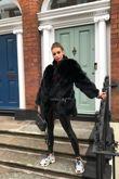 Black Fox Fur Twist Coat