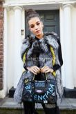 Full Pelt Silver Fox Fur Gilet