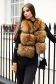 Natural Raccoon Fur Gilet