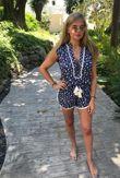 POUPETTE St Barth Blue Donna Short Jumpsuit