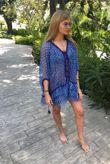 POUPETTE St Barth Bety Blue Vemizia Silk Dress